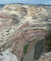 "Photo of Yampa River Canyon, which Moffat County claims as a ""constructed highway""."