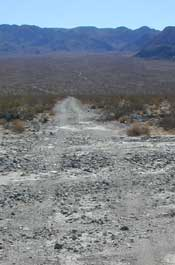 A washed out passage in the Soda Mountains proposed wilderness area, claimed as an RS 2477 route